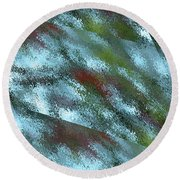 Rainy Day In Blue Round Beach Towel