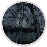 Rainy Days And Mondays- Feature-barns Big And Small-visions Of The Night-photography And Textures Round Beach Towel