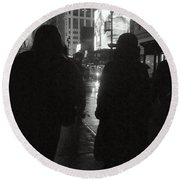 Rainy Night On Seventh - Duo Round Beach Towel