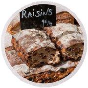 Raisin Bread Round Beach Towel
