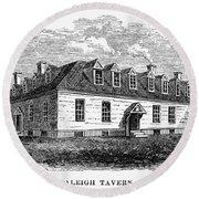Raleigh Tavern, 1770s Round Beach Towel