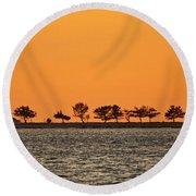Ram Island Round Beach Towel