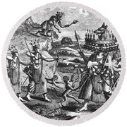 Rama, Seventh Avatar Of Vishnu Round Beach Towel