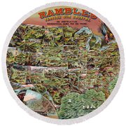 Rambles Through America Round Beach Towel