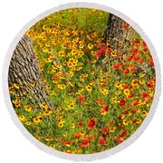 Ranch Wildflowers And Trees 2am-110522 Round Beach Towel