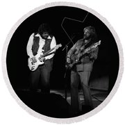 Randy And C.f. Rockin Out In Spokane In 1976 Round Beach Towel
