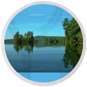 Range Pond 0050 Round Beach Towel