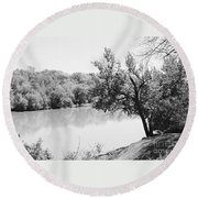 Rappahannock Riverbank I Round Beach Towel