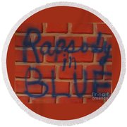 Rapsody In Blue Round Beach Towel