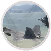 Raptor And Eagle Round Beach Towel
