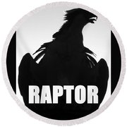 Raptor Spc Work A Round Beach Towel