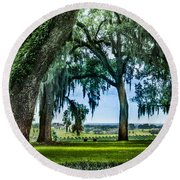 Rare View From Above Round Beach Towel