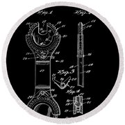 Ratchet Wrench Patent Round Beach Towel