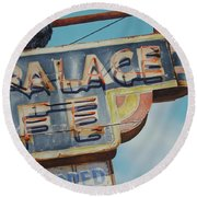 Raven And Palace Round Beach Towel