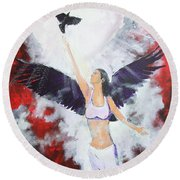 Raven Freed Round Beach Towel