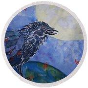 Raven Speak Round Beach Towel