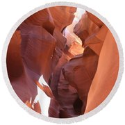 Ravine Walk - Antelope Canyon Round Beach Towel