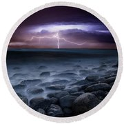 Raw Power Round Beach Towel