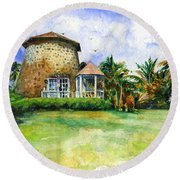 Rawlin's Plantation Inn St. Kitts Round Beach Towel