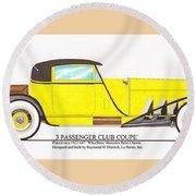 1922 Mercedes Benz By Raymond Dietrich Z Round Beach Towel
