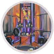 Raymond Vineyards Crystal Cellar II Round Beach Towel by Donna Tuten