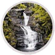 Raymondskill Falls In Milford Pa Round Beach Towel