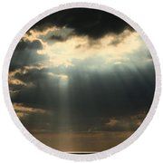 Rays From Heaven Round Beach Towel