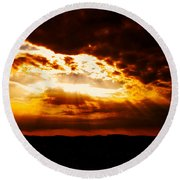 God's Hope In Skyscape Round Beach Towel