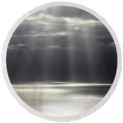Rays Of Hope Round Beach Towel by Shane Bechler