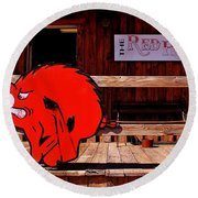 Razorback Country Round Beach Towel by Benjamin Yeager