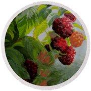Razzleberries Round Beach Towel