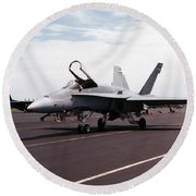 Rcaf F-18 Round Beach Towel