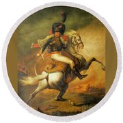 Re Classic Oil Painting General On Canvas#16-2-5-08 Round Beach Towel