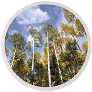 Reaching For The Sky  Round Beach Towel