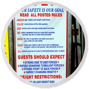 Read All Posted Rules Round Beach Towel