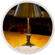 Reading Lamp And Book Round Beach Towel