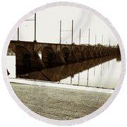 Cumberland Valley Railroad Bridge Round Beach Towel