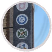 Reading Room Two Round Beach Towel