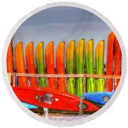 Ready For Summer Round Beach Towel