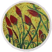 Ready To Bloom Round Beach Towel