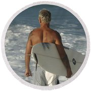 Ready To Go Round Beach Towel