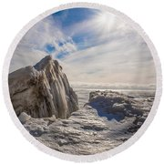 Ready To Let Loose Ice Formation Round Beach Towel