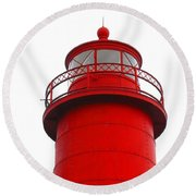 Really Red Lighthouse Round Beach Towel