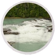 Rearguard Falls Of The Fraser River Round Beach Towel