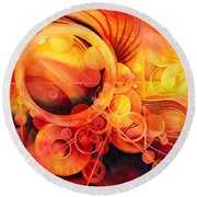 Rebirth - Phoenix Round Beach Towel