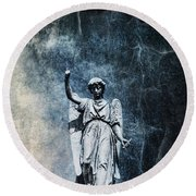 Reckoning Forces Round Beach Towel by Andrew Paranavitana
