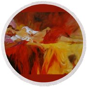 Reclining Beauty 11 Round Beach Towel