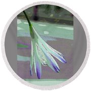 Reclining Lily Abstract Round Beach Towel