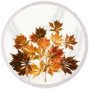 Reconstructed Full Moon Maple Round Beach Towel