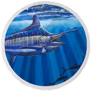 Record Off0011 Round Beach Towel by Carey Chen